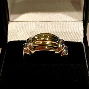 Lagos Caviar Scalloped 18k YG & 925 Ring